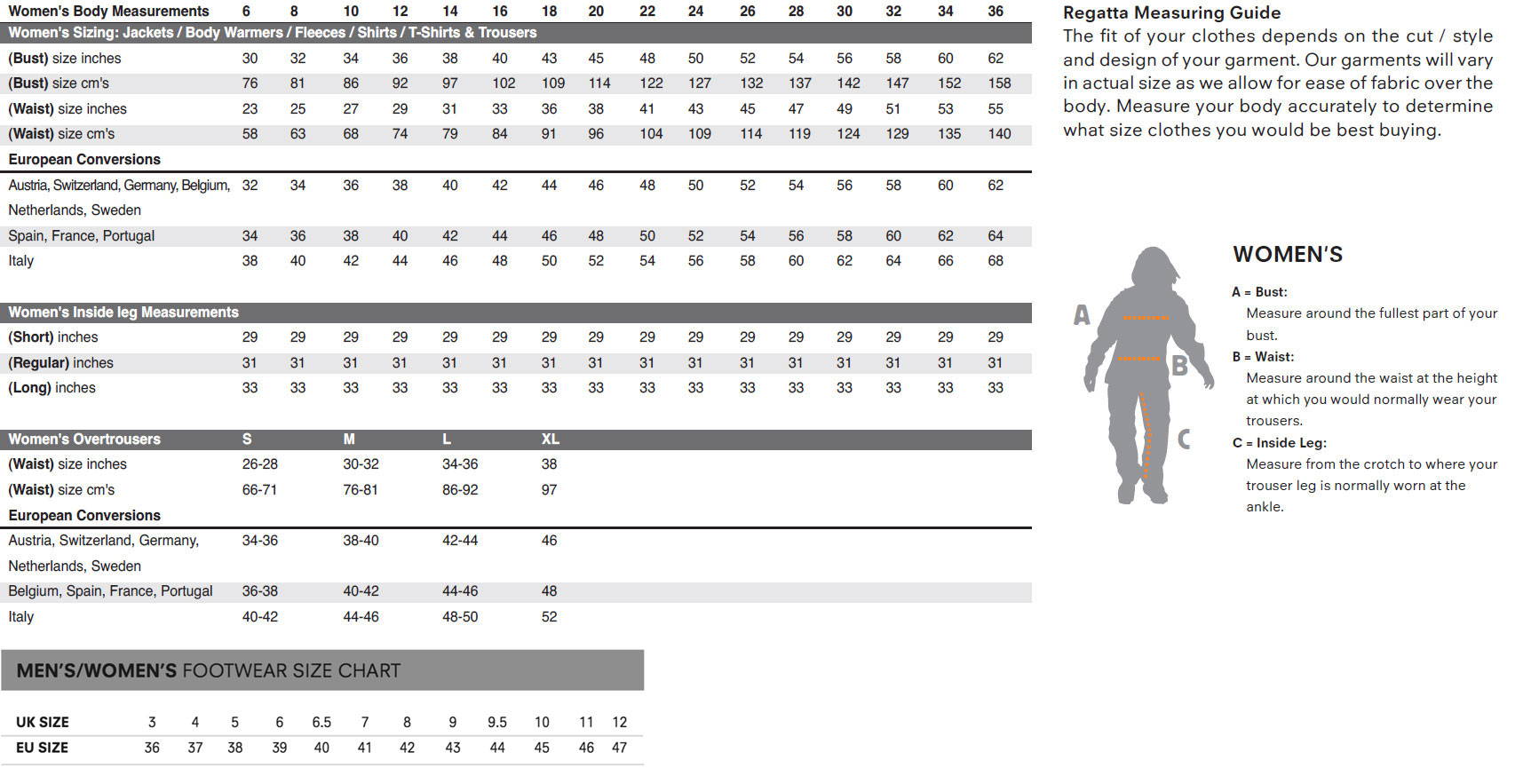 Sizing guide hawkshead womens mens size chart nvjuhfo Choice Image